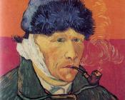 Vincent Van Gogh : Self-portrait with bandaged ear and pipe